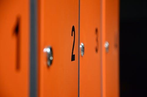 Numbered Lockers